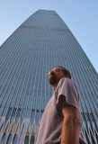 China World Trade Center Tower III towers over Tom in Beijing