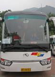 Jenn driving the SKYGZR tour bus