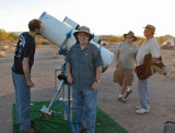 Paul Lind with the Astrograph he built--can you spot something wrong in this photo?
