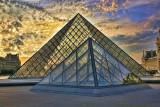 Louvre Sunset Paris