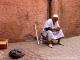 man in white, marrakech