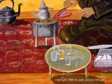 painting of tea tray