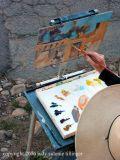 hazel painting on canyon road