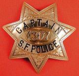 antique SF Captian badge