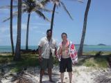 Danny and I at Salt Whistle Bay, Mayreau