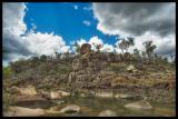 Waterhole and balanced rock, Mount Zero _DSC7599