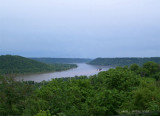 The flow of the Ohio River.