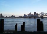 View of Louisville, Kentucky from Jeffersonville, Indiana!