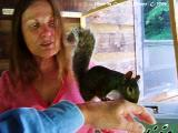 Penny and Me with Rescued Squirrel.JPG