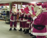 The Choir of Santa Clauses at Stockmann's...