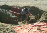 Making Sand Sculpture