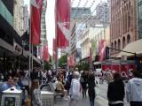 Melbourne streetscape Bourke St