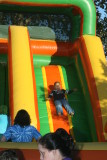Bouncing down the slide