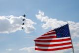 Blue Angels an US Flag Florida International Airshow