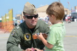 The Great St. of Maine Airshow    Lt. Jared Stewie  Strout with Future Aviator