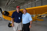 The Great St. of Maine Airshow  Greg Koontz with Airport Mgr. Levesque