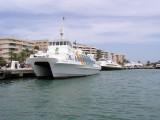 Two Westermaran 95 catamarans. Astern is Aigues de Formentera.  Rapido de Formentera was sold to Argentina in 2007