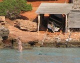 Bathing by the Boatshed