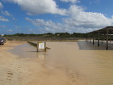 Flooded Beach Car Park
