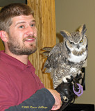 VINS Docent with Great Horned Owl