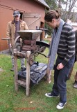 David and Aiden with the Cider Press