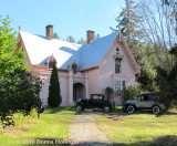 Justin Morrill Homestead with Antique Cars