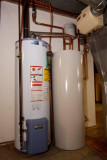 gas water heater, water pre-heater storage tank