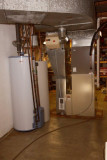 water heater, storage tank, gas furnace