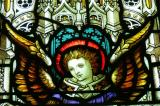 Stained glass images in St James Cathedral, Toronto
