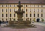 Prague Castle fountain