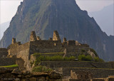 Machu Picchu, mountain and buildings