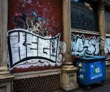 Graffiti in Soho, Crosby and Broome Streets