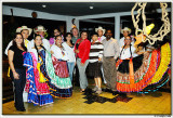 With the local dancers