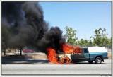 The burning truck