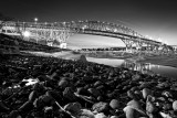 Blue Water Bridges in B&W
