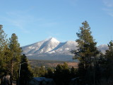 The San Francisco Peaks from our front yard. Flagstaff, AZ