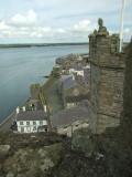 The Menai Straits,from Caernarfon Castle.