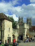 Bootham Bar,with York Minster,behind.