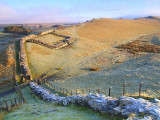 Hadrian's Wall,remains at Cawfield Crags.