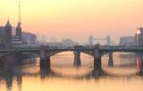 Southwark Bridge in the dawn