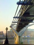 Millenium Bridge in the sunrise / 2