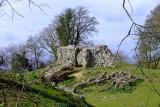 Thurnham Castle : the gatehouse from the motte(ringwork on the plan)