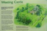 Weeting Castle display board