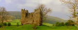 Hopton Castle keep, sitting on it's motte