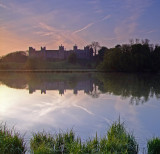 Framlingham  Castle  and The  Mere  at  dawn.