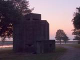 WW2  Machine  gun  HQ  in  the  dawn