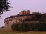 Palmerston Fort,with WW2 anti - aircraft gun on roof.