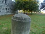 WW2 mortar spigot,reused as a bollard.