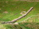 Hadrian's  Wall,partially  reconstructed,showing location  of turret  39ab.