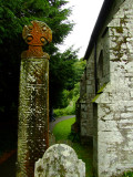 Celtic  cross  in  the  grounds  of  St.  Brynach  church